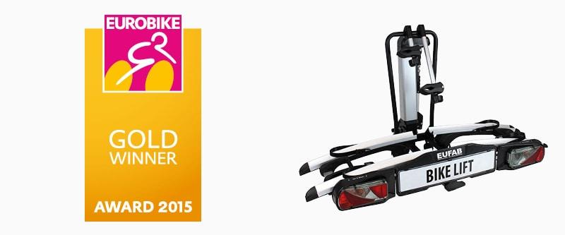 Auszeichnungen und Testergebnisse: Eurobike Gold Winner Award 2015