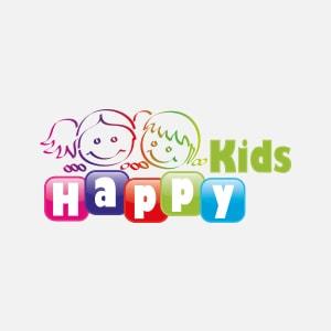 Happy Kids Logo auf weißem Grund