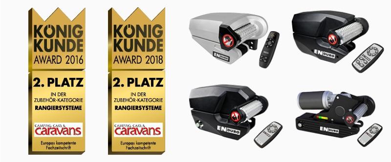 Auszeichnungen und Testergebnisse: Kunde König Award Platz 2 für Rangierhilfenzubehör